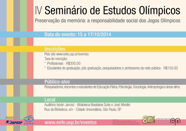 cartaz novo - seminario de estudos olimpicos